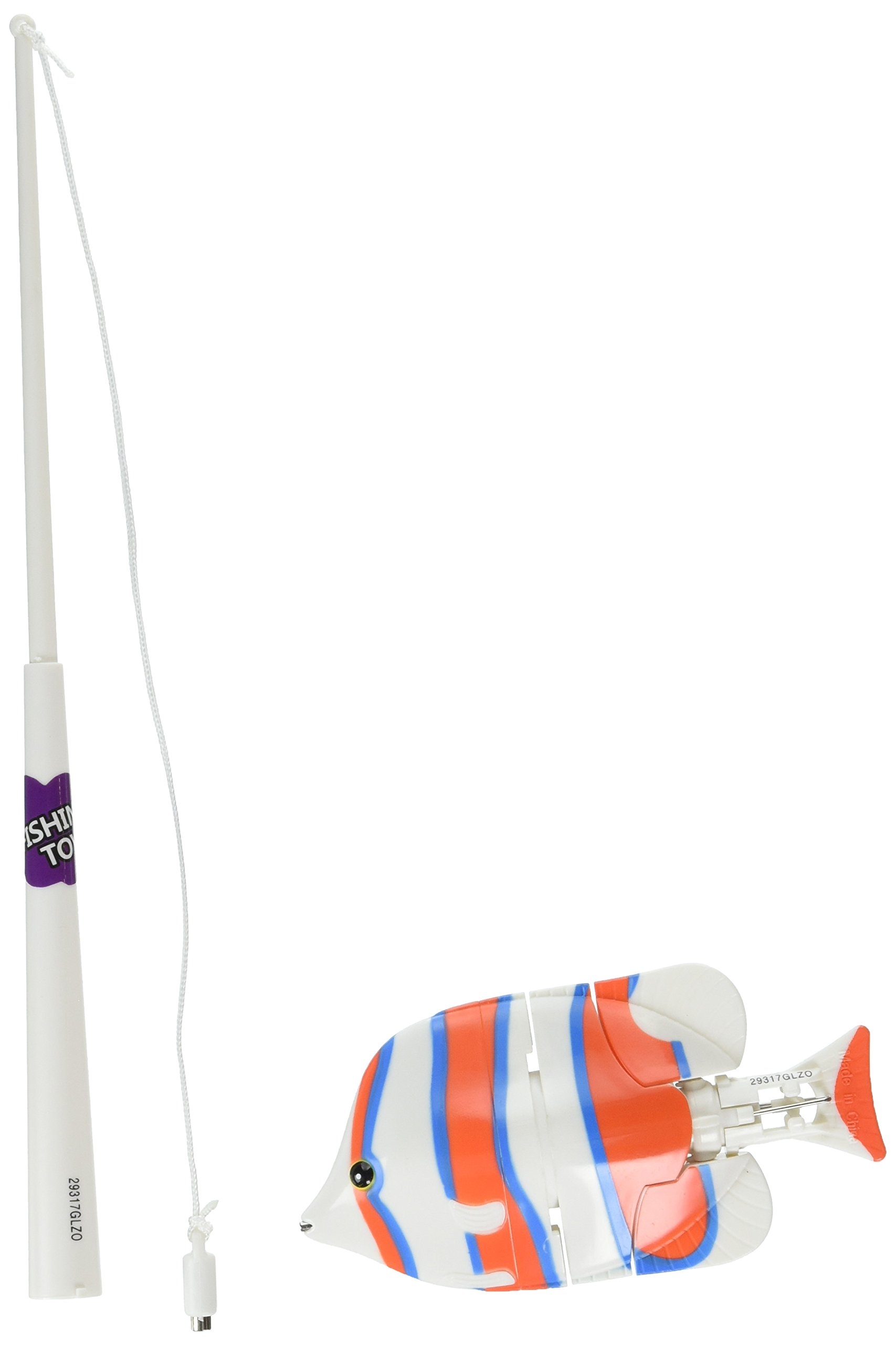 Aqua Swimming Fish Catch Game Pool Toy, Orange/White, Ages 5 and up