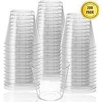 Vasos de chupito desechables de plástico transparente