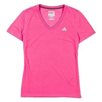 últimos lanzamientos más fotos los recién llegados adidas para Mujer Athletic Camiseta de Cuello en V, Gris y ...