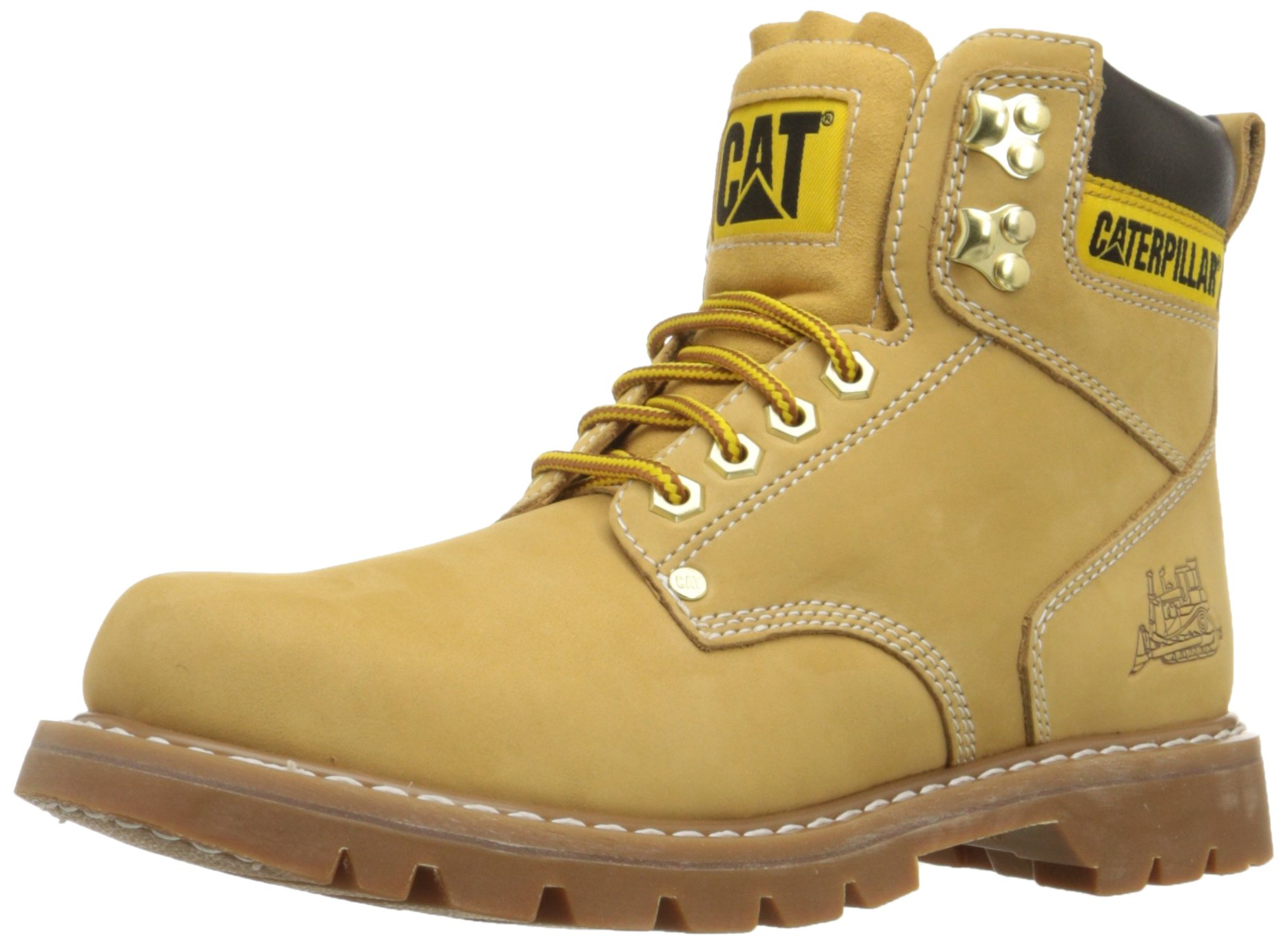 Caterpillar Men's 2nd Shift 6'' Plain Soft Toe Boot,Honey,8.5 M US by Caterpillar