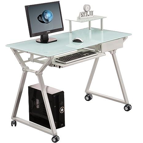 Mesa escritorio para ordenador con ruedas o pies. Modelo Laptop.