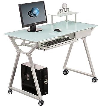 Mesa escritorio para ordenador con ruedas o pies. Modelo Laptop.: Amazon.es: Hogar