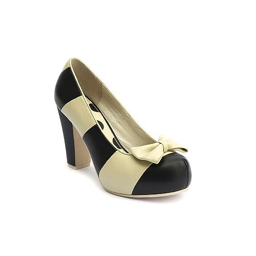 656eb7a0a12 Lola Ramona - Zapatos de vestir de Piel para mujer Negro negro  Amazon.es   Zapatos y complementos