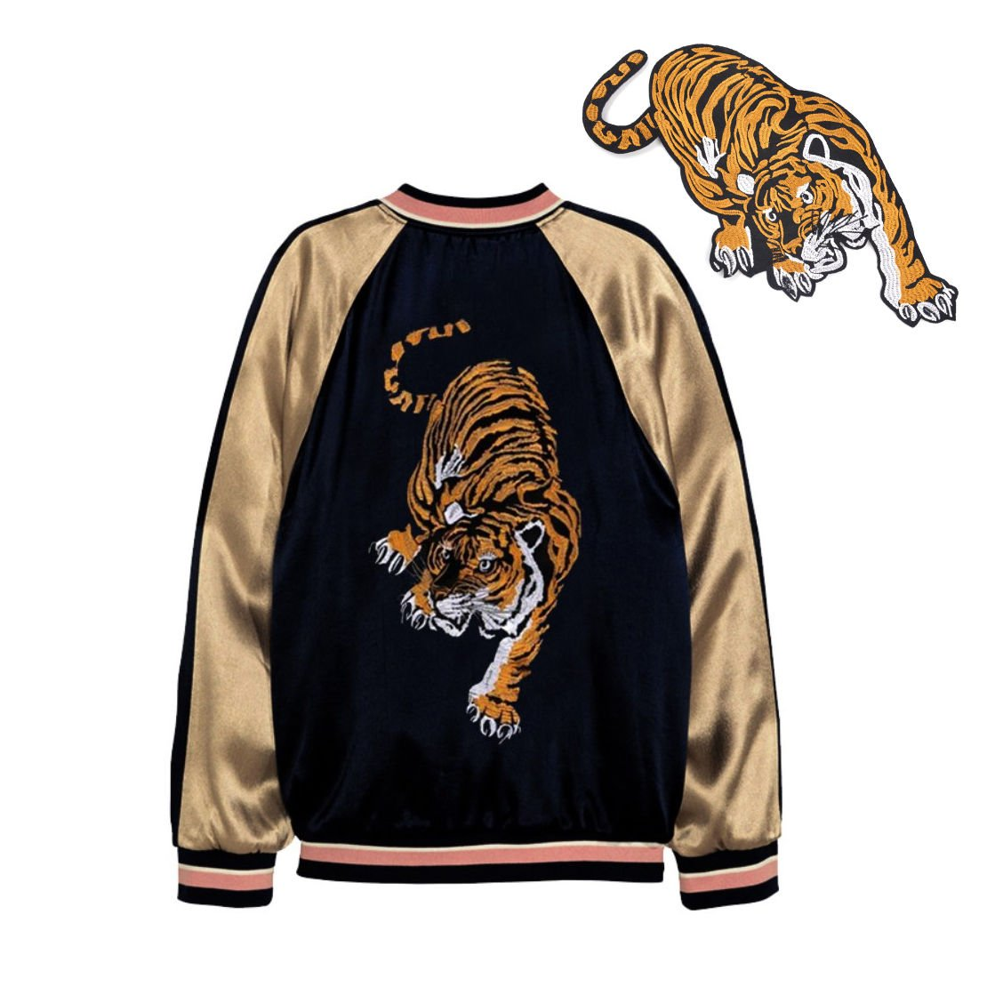 f50ae1543db Amazon.com  TheFound Tiger Patch for Clothes Applique Craft DIY Accessories  (Tiger Down the mountain)  Clothing