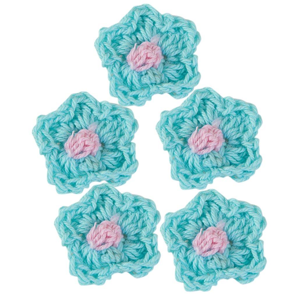 10 Stk 2-Schicht Handgemachte Häkelarbeit Blütenblatt Baby Haarschmuck
