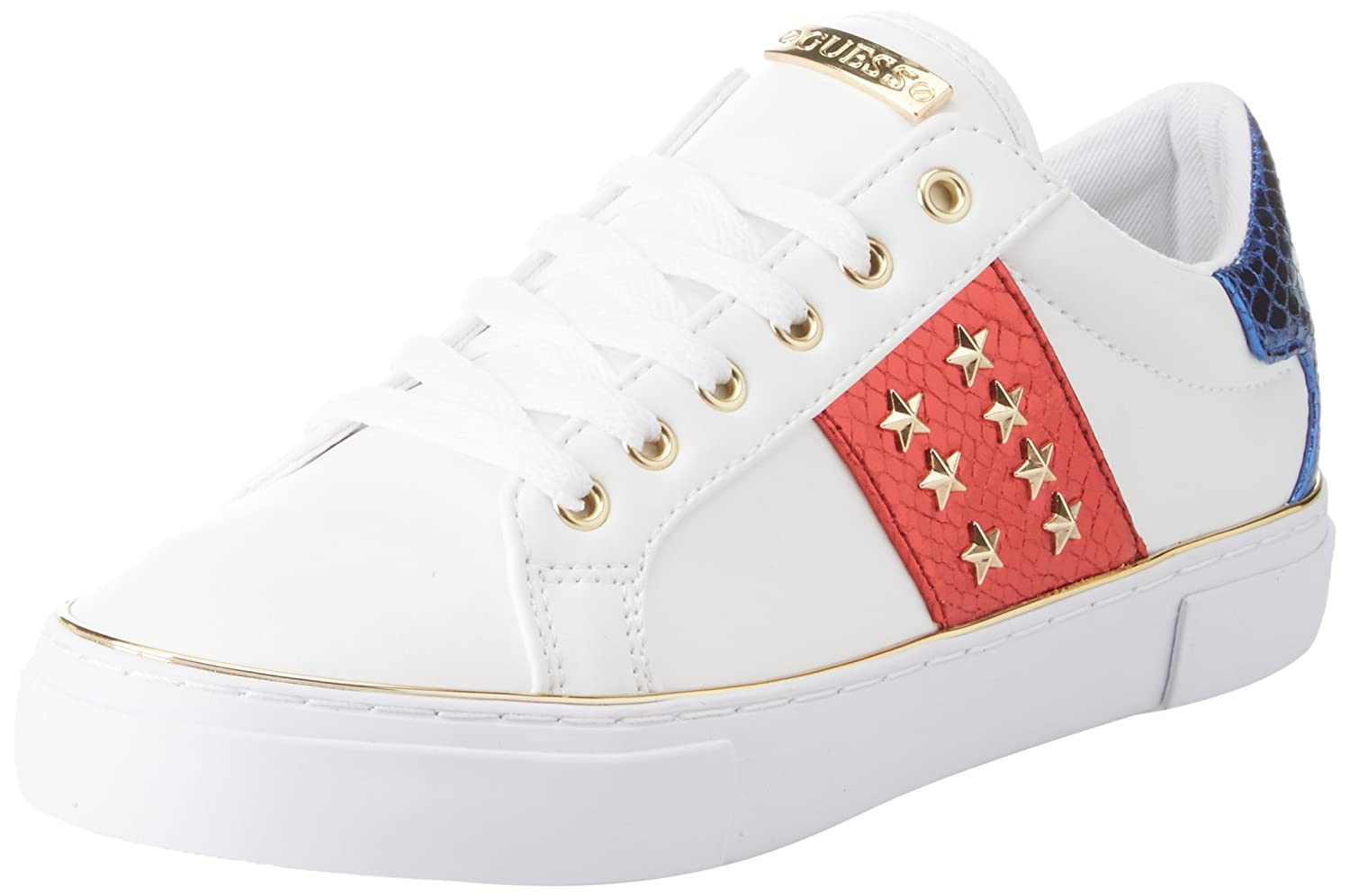 TALLA 37 EU. Guess Gamer/Active Lady/Leather Like, Zapatillas de Gimnasia para Mujer