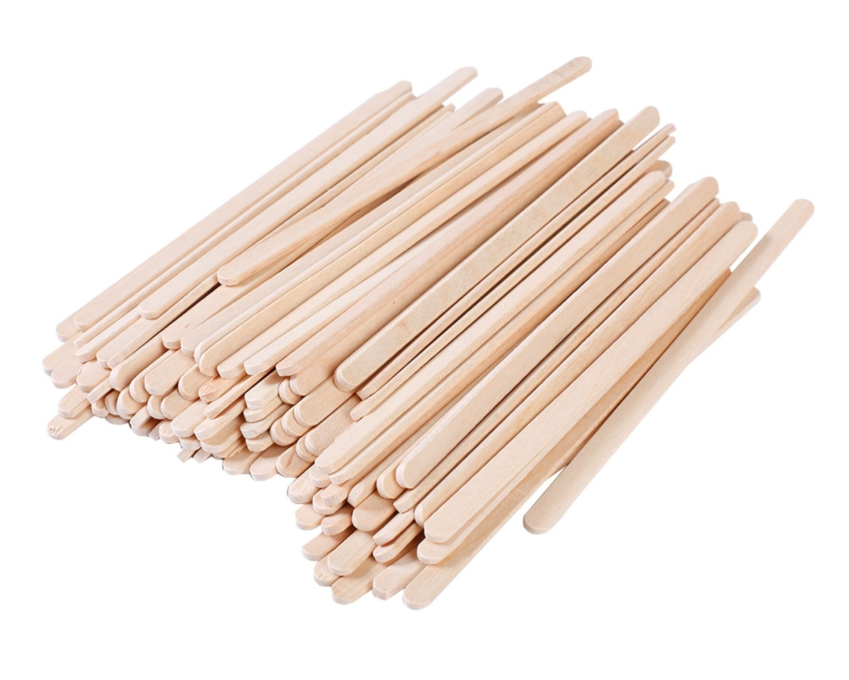 Gmark Disposable Wooden Stirrer, Sturdy Wood Stir Sticks Coffee Tea Beverage, Corn Dog Stick Caramel Candy Apple Stick, 5.5 Inch Round Edge, 500 Pcs/Box GM1010
