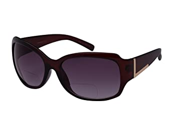 92ef1a79c86 Image Unavailable. Image not available for. Color  Edge I-Wear Women s  Oversized Bifocal Sunglasses ...