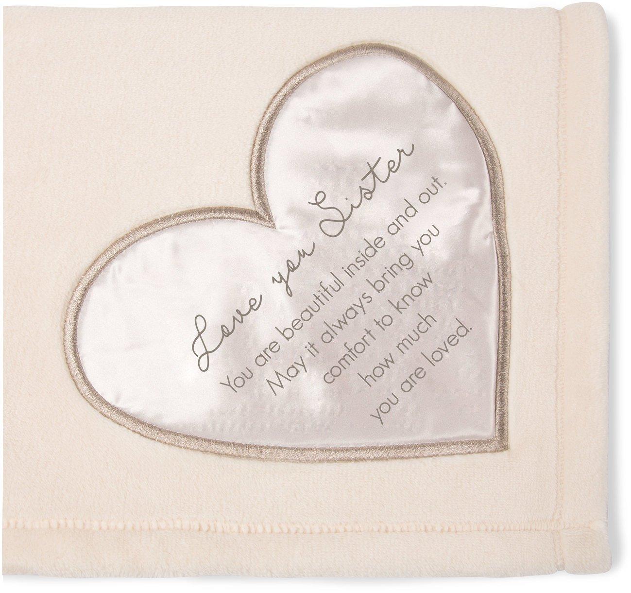 Pavilion Gift Company 19504 Comfort Blanket - Love You Sister Thick Warm 320 Gsm Royal Plush Throw Blanket