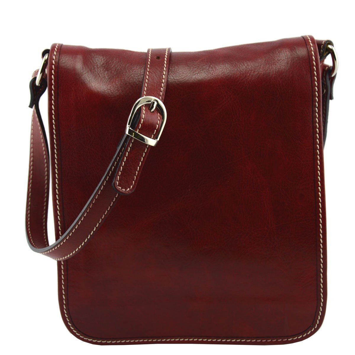 Dream Leather Bags Made in Italy Genuine Leather メンズ US サイズ: 1 カラー: レッド B071G18PZ3