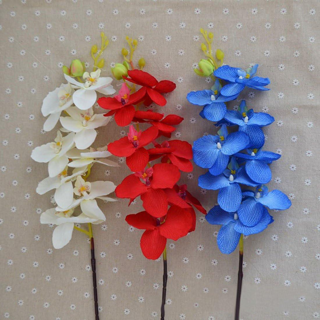 8/t/êtes de fleur//pcs 100 cm rose Calcifer 10/pcs 100/cm artificielle Soie Phalaenopsis Orchid/ée Tige bouquets Fleurs Artificielles pour f/ête de mariage Maison D/écoration de jardin