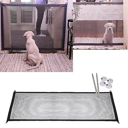 Mascota Perro Red,STRIR Barrera de seguridad plegable portátil para perro, de plástico, separador de seguridad para perros para instalar en cualquier lugar, ...