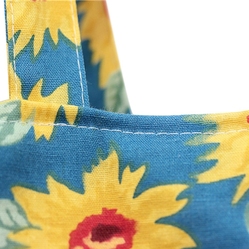 Flowertree Womens Sunflower Pattern Convertible Canvas Tote Bag