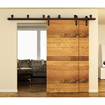 Amazon New Arrival Antique Bypass Sliding Barn Door Track