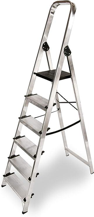 ALTIPESA - Escalera Doméstica de Aluminio, Peldaño 12 cm. (6 peldaños): Amazon.es: Bricolaje y herramientas