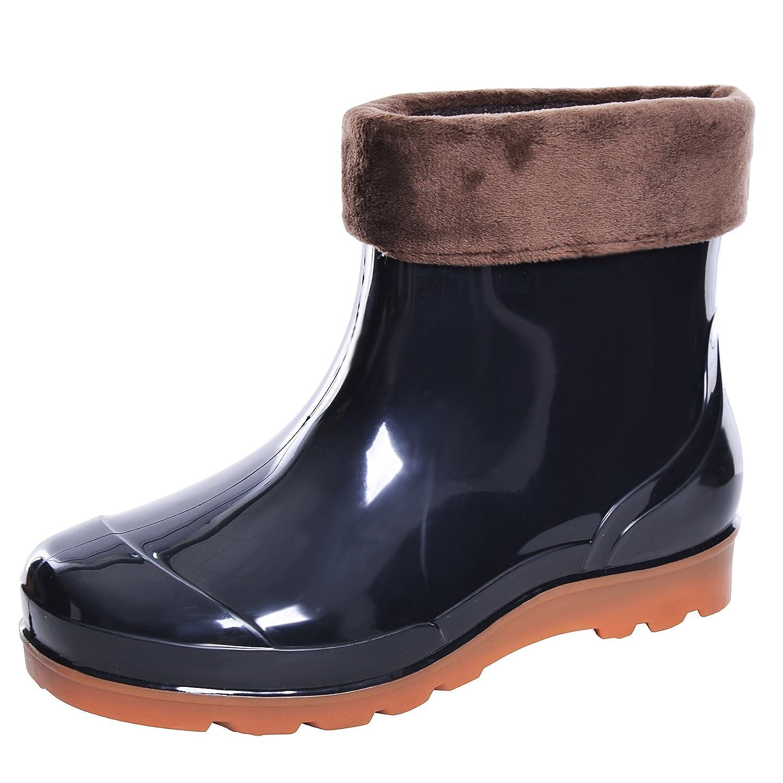 bfeefcf3a15 JACKY LUYI Men Rain Boots Waterproof Rubber Washing Work Boots