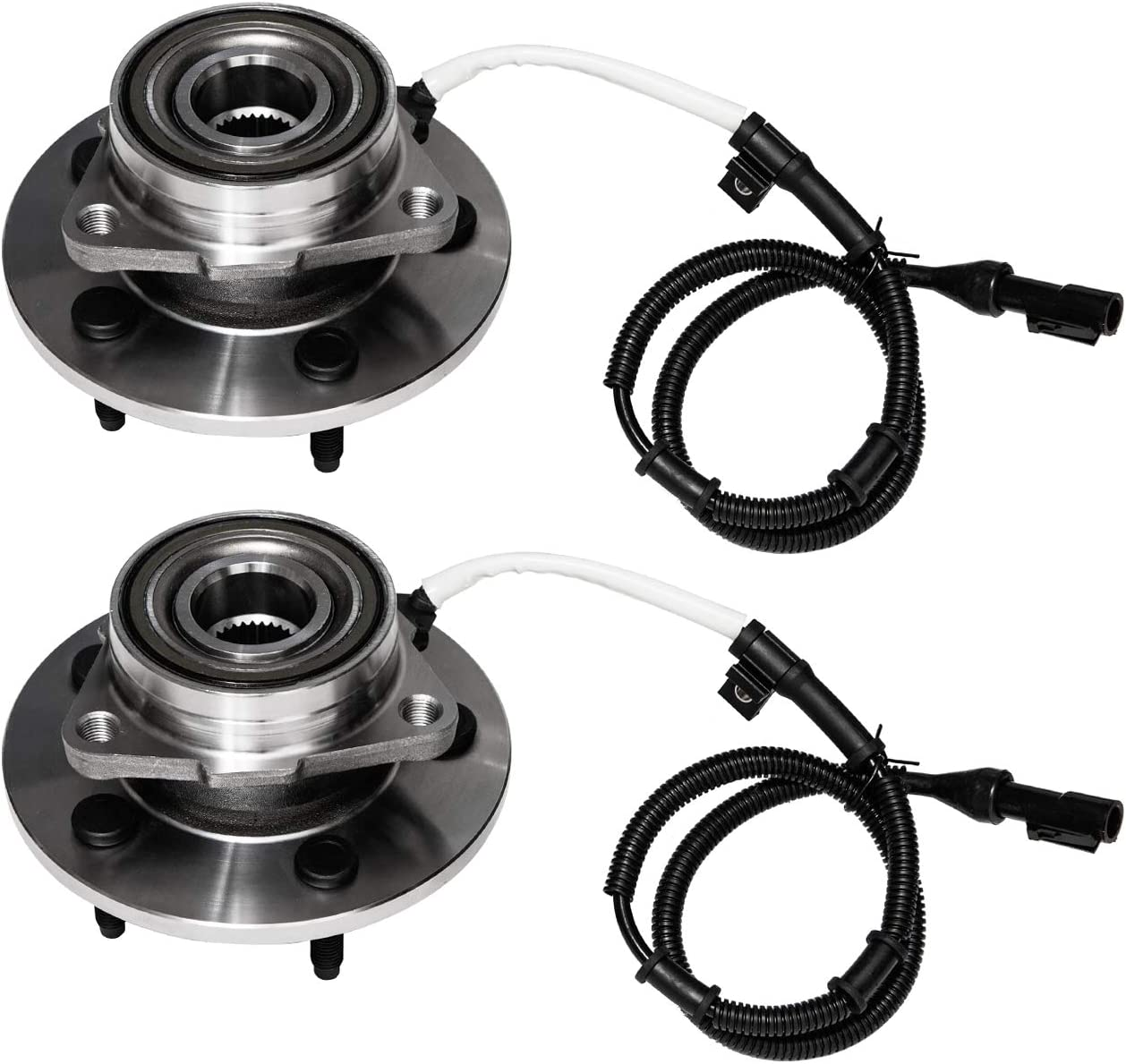 Front Wheel Bearing and Hub Assembly Compatible With 1997-2000 Ford Expedition 1998-2000 Lincoln Navigator 4WD Models Only;M12 Wheel Bolts TUCAREST 515004 x2 Pair 5-Stud Hub W//ABS