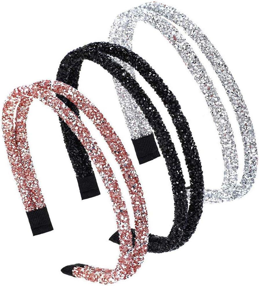 Fascia di Cristallo di Moda Barrette per Capelli con Strass da Donna//Ragazze Capelli Decorazione Bandana Accessori Copricapo Clip Gioielli per Damigella donore