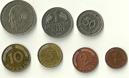 Amazon.com: One Set of 7 German Coins Pre Euro (1 and 2 ...