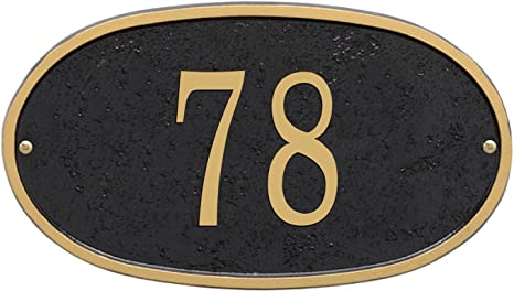 Oval House Number /& Street Name Sign Light Grey /& Dark Grey Mat Finish