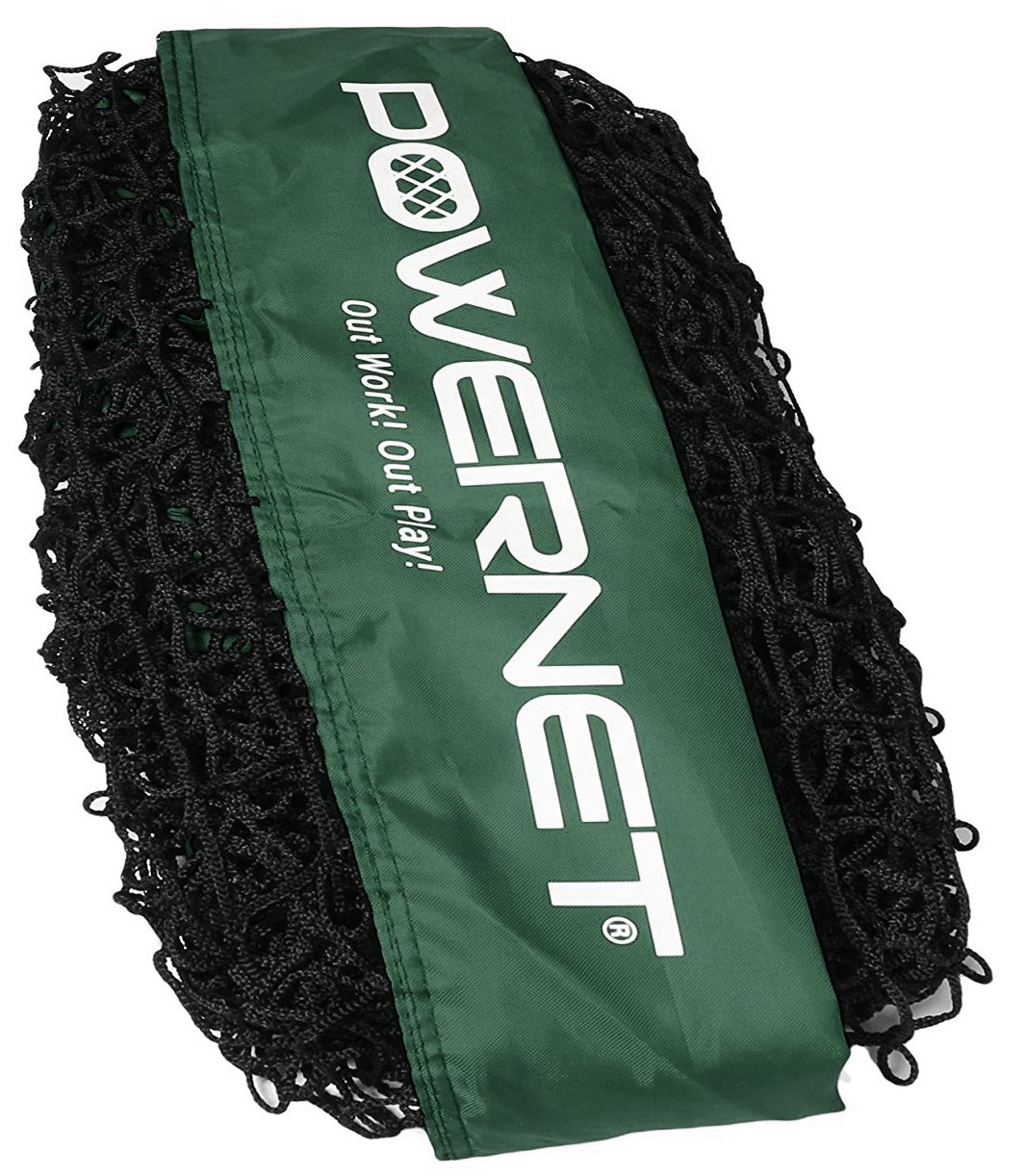 PowerNet Team Color Nets Baseball and Softball 7x7 Bow Style (NET ONLY) Replacement | Heavy Duty Knotless | Durable PU Coated Polyester | Double Stitched Seams for Extra Strength (Green) by PowerNet