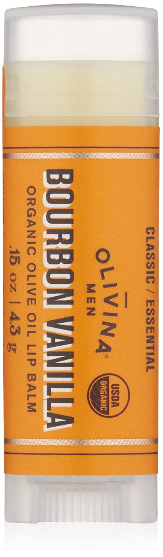Olivina Men - Naturally Pure Organic Olive Oil Lip Balm Bourbon Vanilla - 0.15 oz. (pack of 12) Is Clinical White Lightening Complex 10 G E Net Wt. 0.35 Oz.