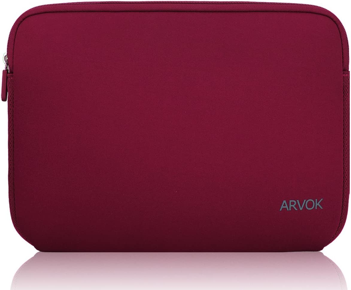 Arvok 17-17.3 Inch Laptop Sleeve Multi-Color & Size Choices Case/Water-Resistant Neoprene Notebook Computer Pocket Tablet Briefcase Carrying Bag/Pouch Skin Cover for Acer/Asus/Dell/Lenovo, Wine Red
