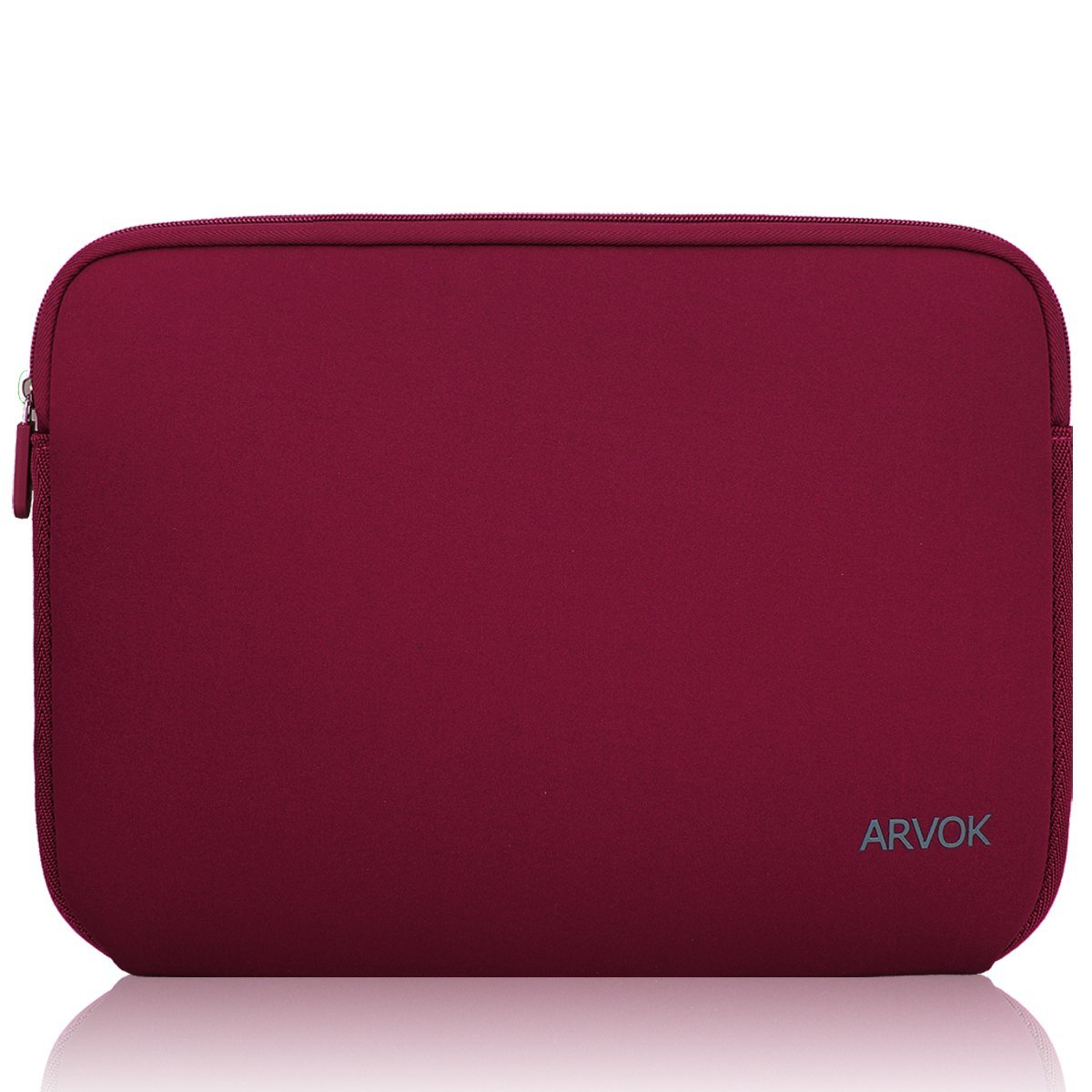 Arvok 15-15.6 Inch Laptop Sleeve Multi-color & Size Choices Case/Water-resistant Neoprene Notebook Computer Pocket Tablet Briefcase Carrying Bag/Pouch Skin Cover For Acer/Asus/Dell/Lenovo, Wine Red