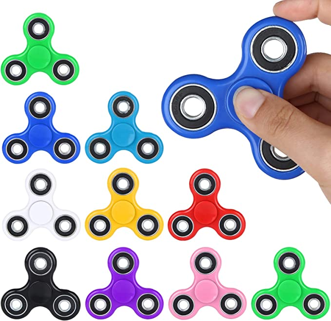 SCIONE Fidget Toys Fidget Spinner Motor Skills Development Attention Intensive Learning Toy,Stress and Anxiety Relief for Kids /& Adults Green+Red