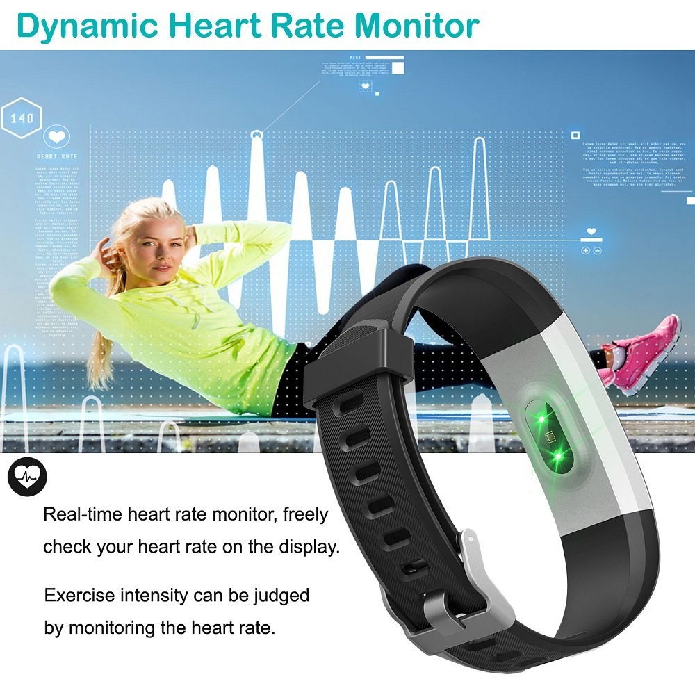 Fitness Tracker,YAMAY Activity Tracker Watch with Heart Rate Monitor ...