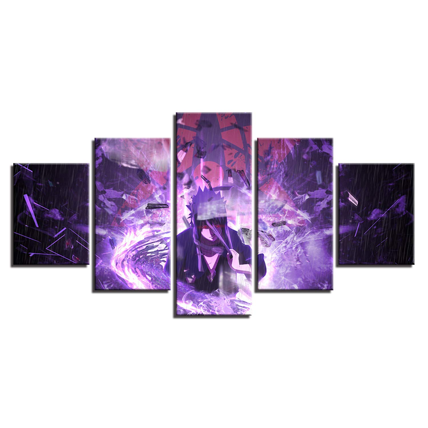 JESC Art Posters Prints Painting Wall Framework 5 Panel Cartoon Naruto Modular Canvas Character Pictures Living Room Home Décor