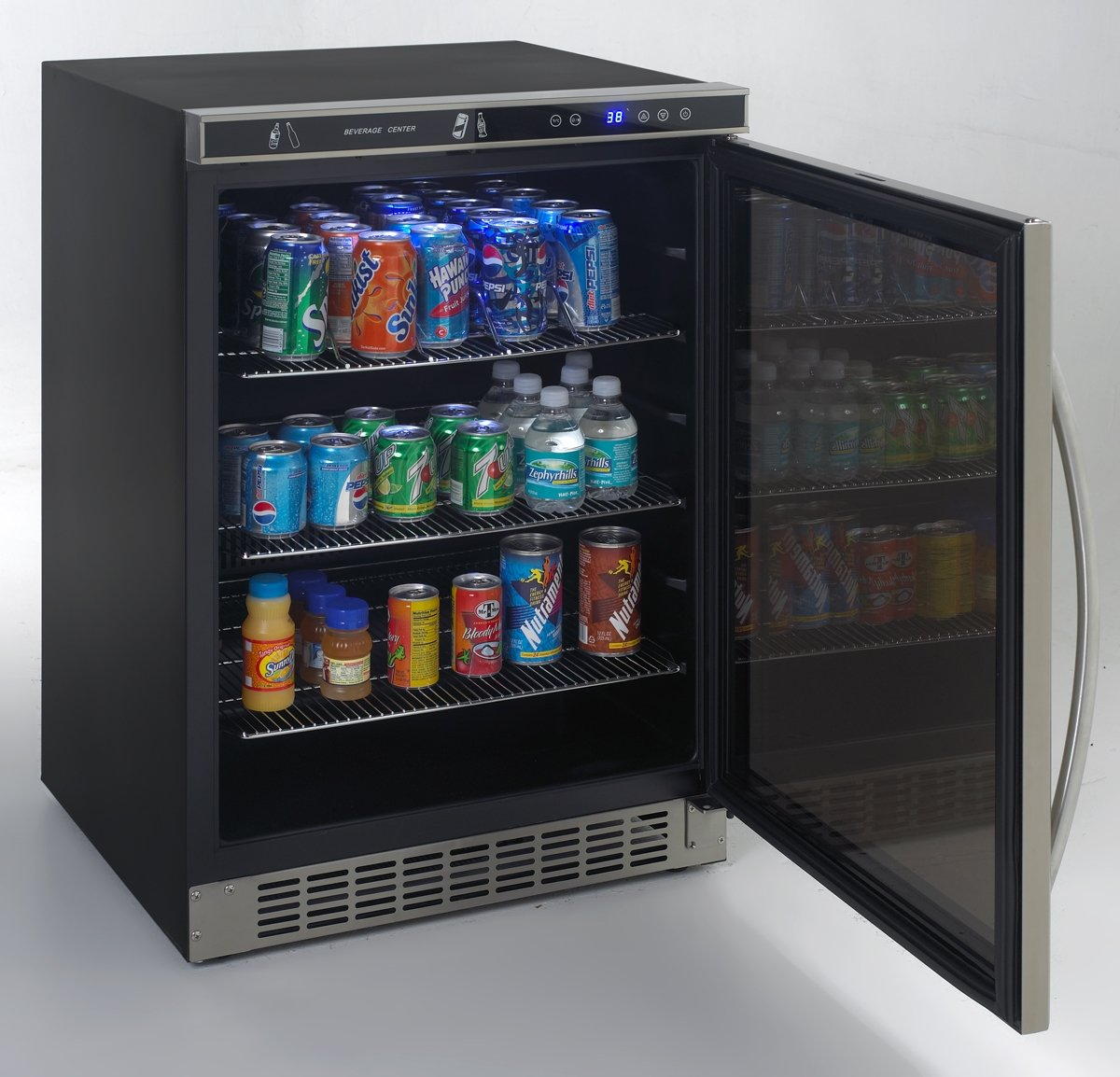 amazoncom avanti avanti bca5105sg1 beverage cooler 53 cubic feet appliances - Glass Door Mini Fridge