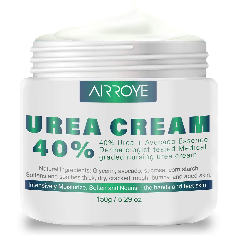 Urea 40% Cream 150g - best Callus Remover For Feet & Hands, Natural Moisturizes Nourishes Softens Dry, Rough, Cracked, Dead Skin