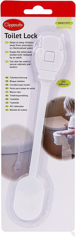 Clippasafe autocollante Secure Toilette Complète Fermeture serrure
