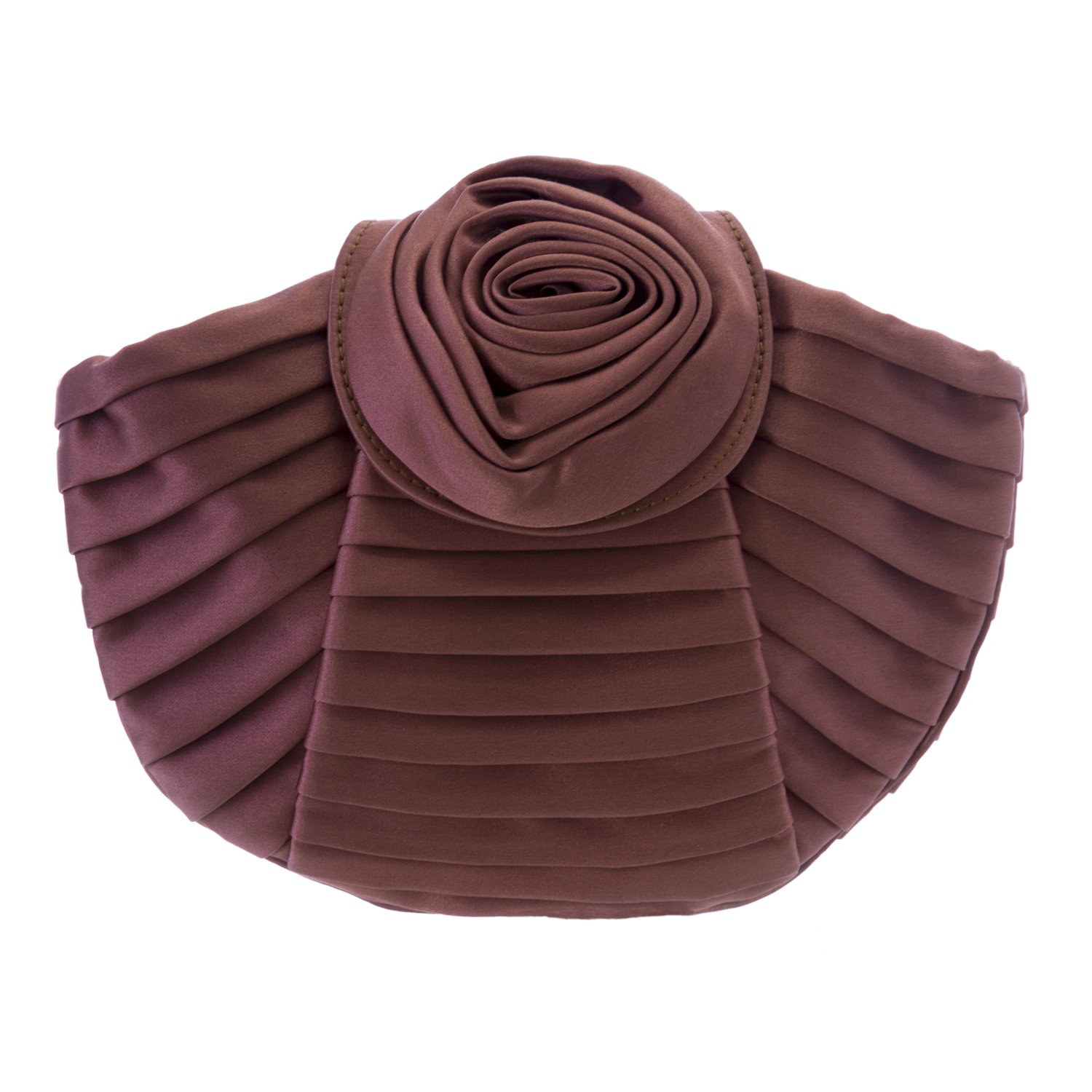 Giorgio Armani Women's Pleated Rose Clutch Mauve