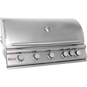 40″ 5-Burner Built-In Gas Grill with Rear Infrared Burner Gas Type: Propane