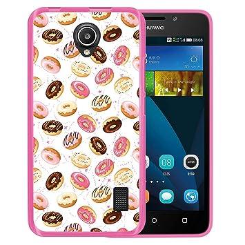 WoowCase Funda Huawei Ascend Y635, [Huawei Ascend Y635 ] Funda Silicona Gel Flexible Donuts, Carcasa Case TPU Silicona - Rosa