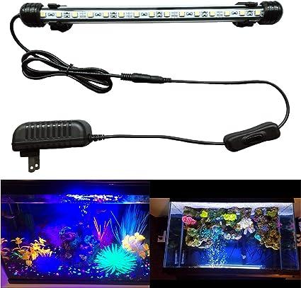 Mingdak LED Aquarium Light Fish Tank Light Under Water Light Submersible Crystal Glass Lights