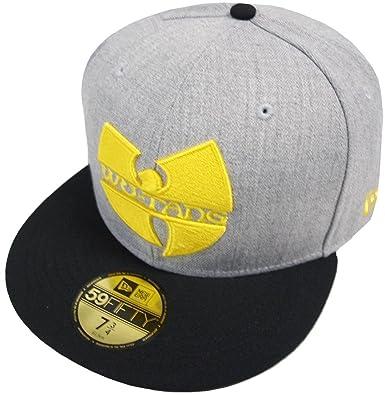 11aa789383d New Era WU-TANG Logo Cap Grey 59fifty Basic Fitted Basecap Kappe Wu Tang  Clan  Amazon.co.uk  Clothing