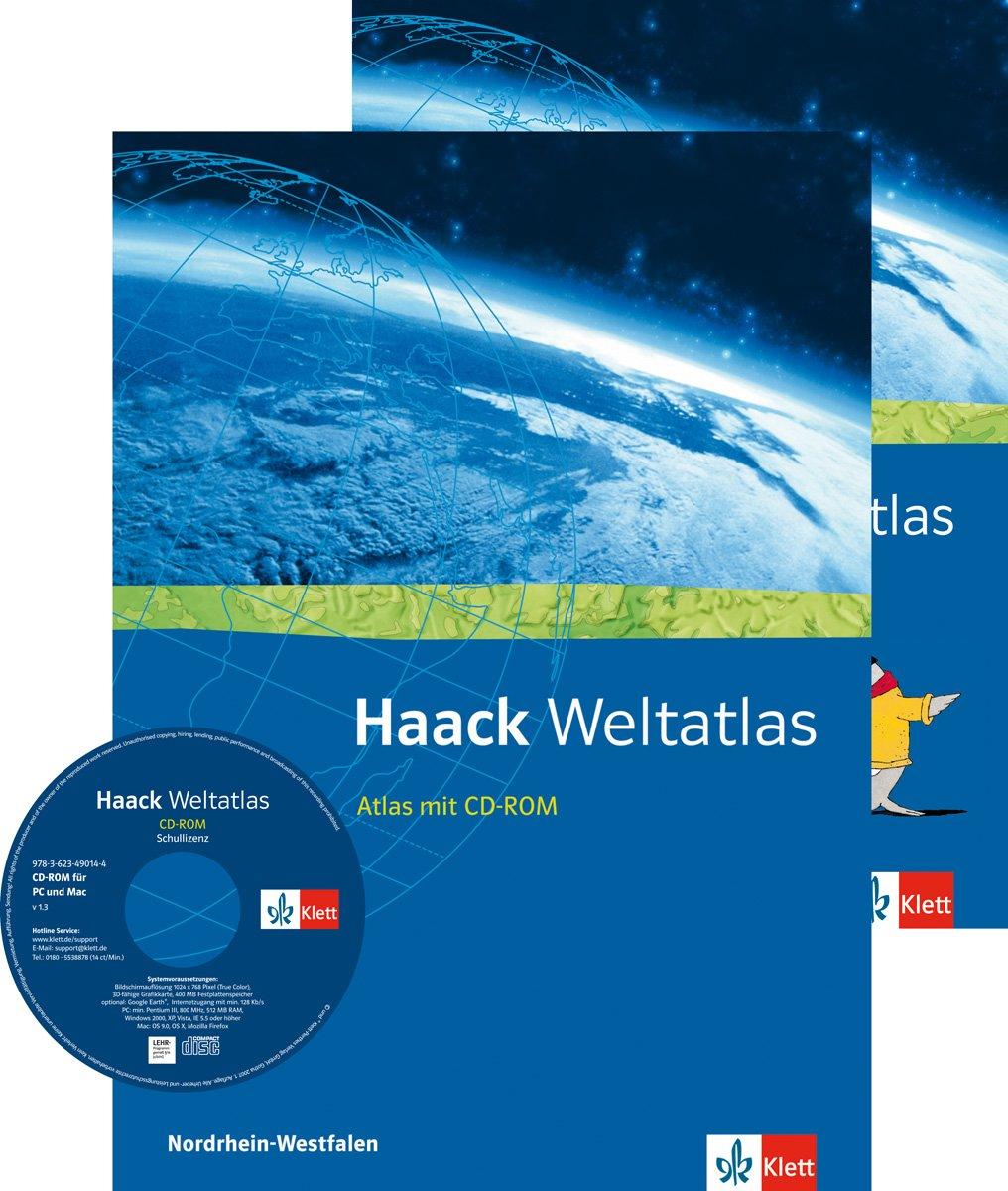 Haack Weltatlas für Sekundarstufe I und II / Ausgabe für Nordrhein-Westfalen mit CD-ROM und Arbeitsheft Kartenlesen
