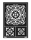 KREUL 74865Flexible Wall Stencil Template Tile A5