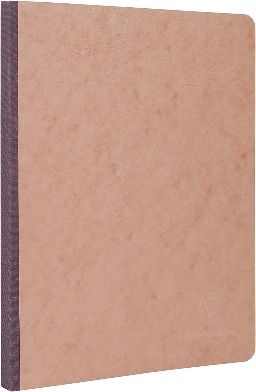 1 St/ück rot Clairefontaine 795922C Heft Leinen, Age Bag, kariert, 9 x 14 cm, 96 Blatt