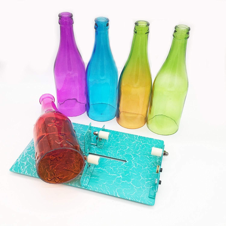Cortador de botellas de cristal, kit de herramientas de corte de cristal para manualidades de cumpleaños, decoración de bodas, vacaciones, ...
