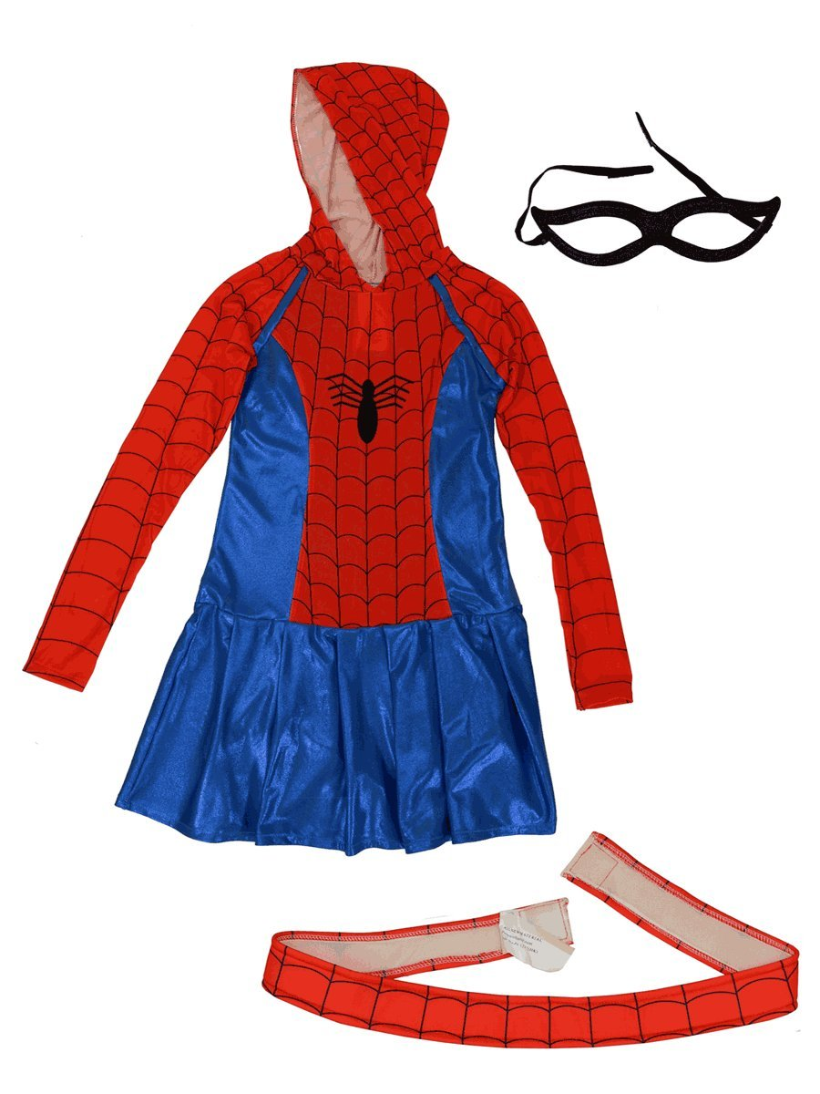 - 714 bvGL1pL - Kids Marvel Spider-Girl Hoodie Costume [610232]