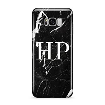 official photos e6b01 ff081 PERSONALISED WHITE MARBLE INITIAL 8 MOBILE PHONE CASE FOR SAMSUNG GALAXY S8