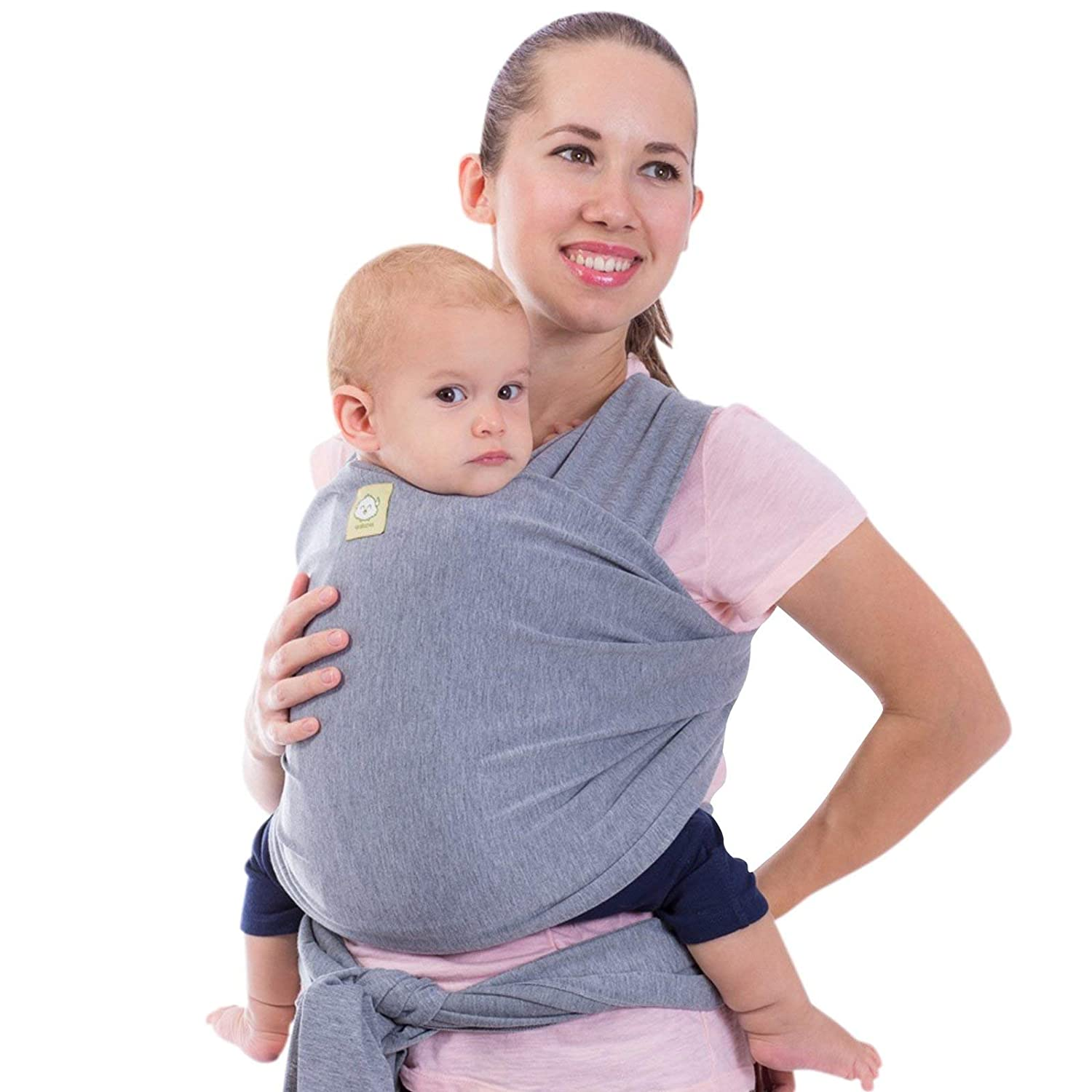 KeaBabies ClassicGray Baby Wrap Carrier