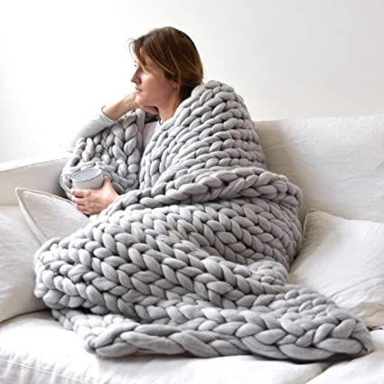 Swell Fannty Chunky Knit Throw Blanket Large Cable Knitted Premium Dailytribune Chair Design For Home Dailytribuneorg