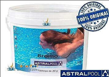 Astral - Bromo en tabletas de 20 gr, para piscinas (paquete de 5 kg ...