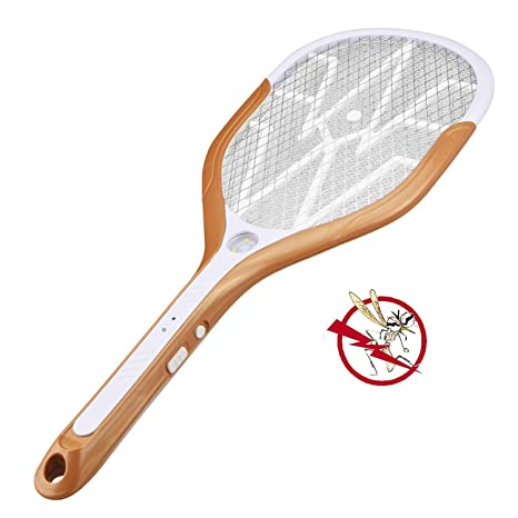 Sxfcool USB Carga Mosquito Swatter Electric Fly Swatter LED Luces ...