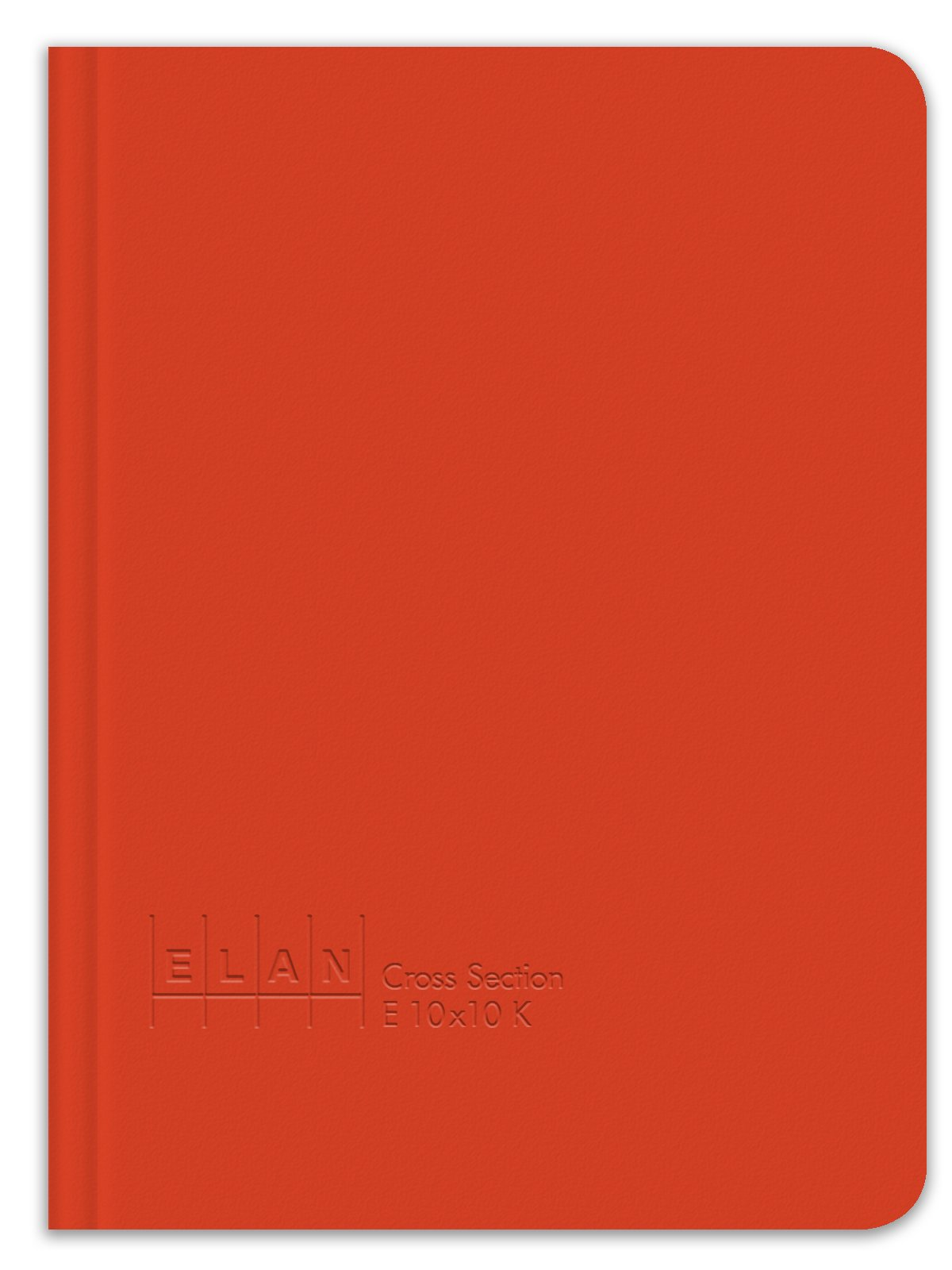 Elan Publishing Company E10x10K King Size Cross Section Book 6 ½ x 8 ½, Bright Orange Cover (Pack of 6)